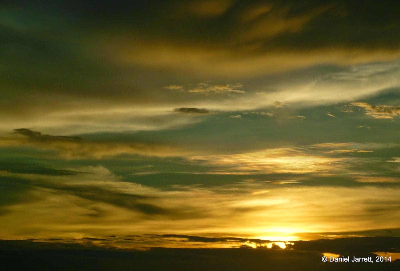 Sunset skies over Manila Bay
