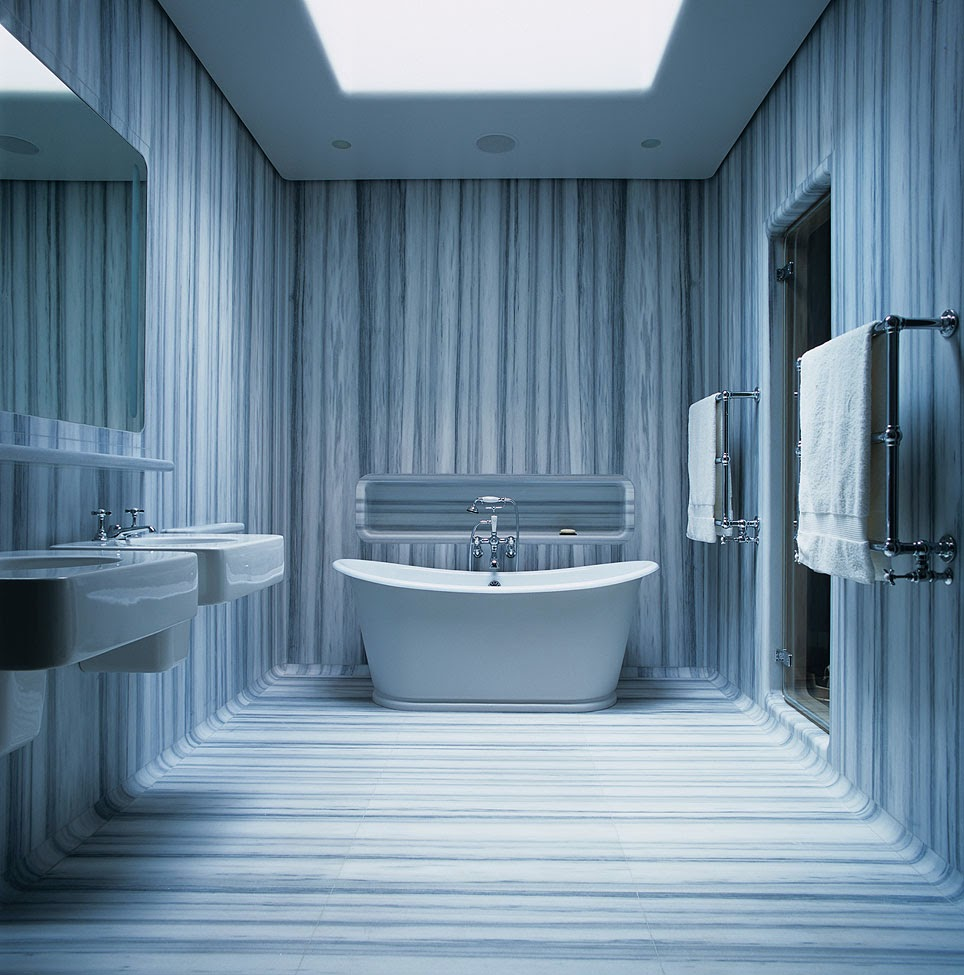wall coverings for bathrooms - photo #16