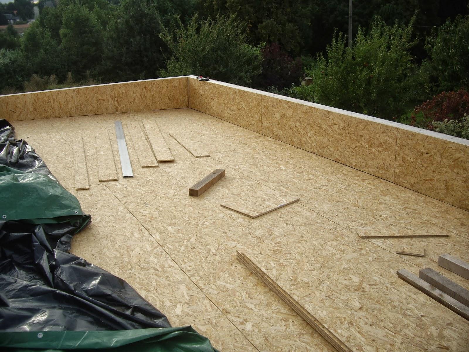 Notre auto construction passive Maison ossature bois (M O B ) Ossature bois (Plancher OSB) # Plancher Maison Ossature Bois