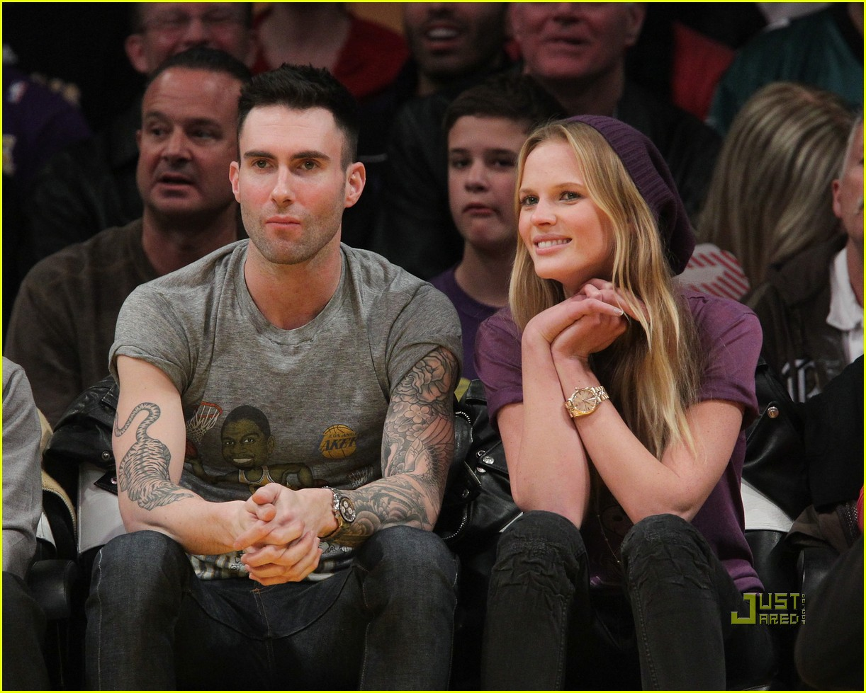 you can also see this rockin fashionable duo here   here and here  Adam Levine And Anne Vyalitsyna Misery