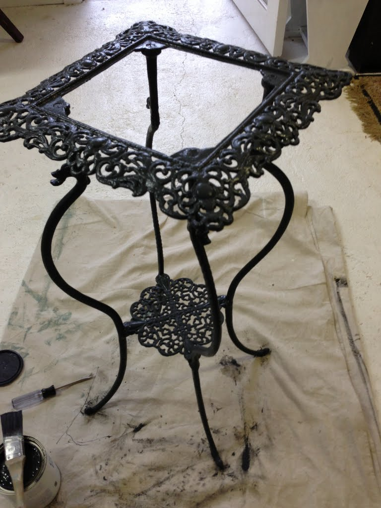 Lilyfield Life: Annie Sloan Chalk Paint To Transform A Metal Plant Stand