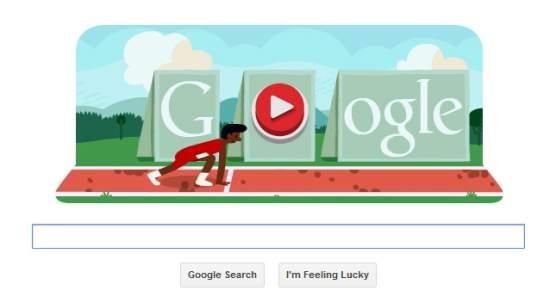 Google Doodle Hurdle Race