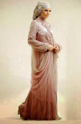 model baju muslim pesta untuk orang gemuk
