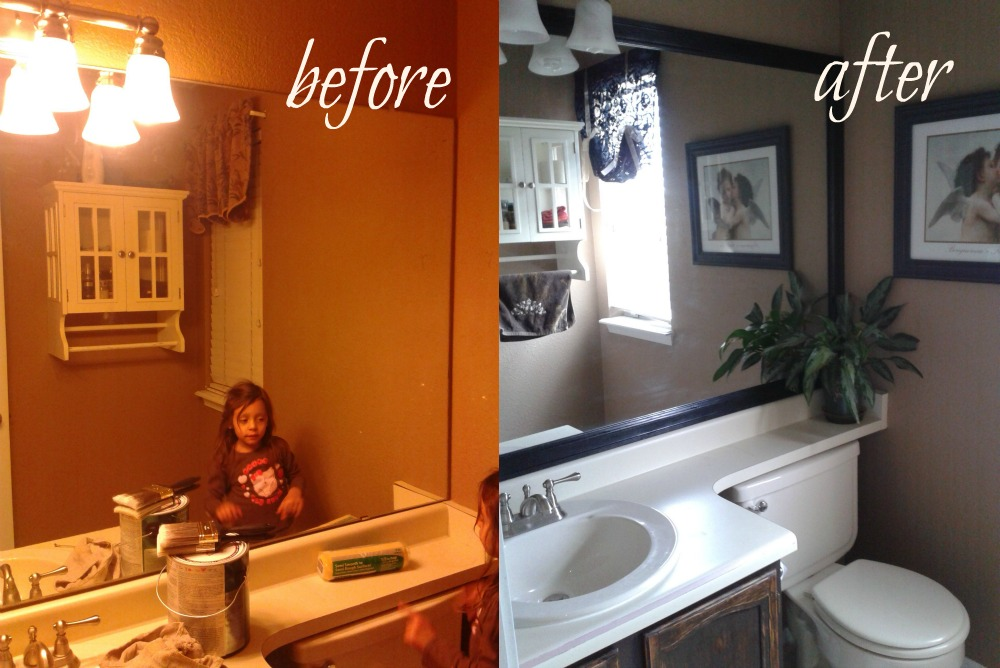 Bathroom Makeover Easy over the apple tree: weekend bathroom makeover