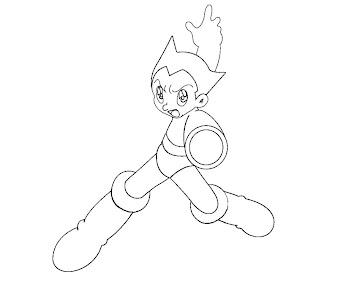 #3 Astro Boy Coloring Page