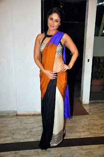 Bollywood Actress Kareena Kapoor Designer Saree Photos