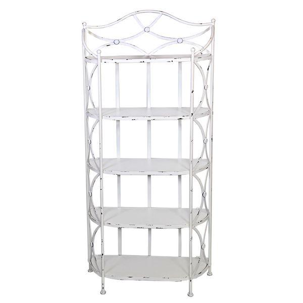 Muebles de forja estanter as forja blanca astaller - Estanteria forja ...