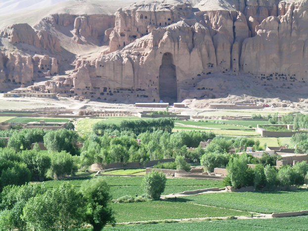 Afghan Buddhists Statues in Bamiyan Valley