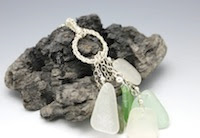 Rings of Glass Sea Glass Necklace by MakinTheBestOfIt