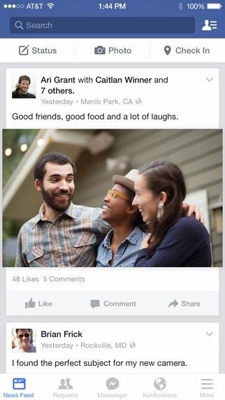 Facebook: l'app si aggiorna alla vers 29.0