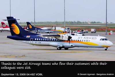 Jet Airways ATR 72-500 VT-JCH Ultra High Resolution Bengaluru International Airport