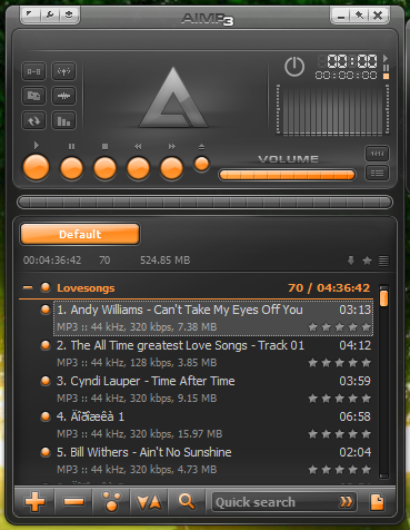 AIMP Free MP3 Media Music Player Review for Windows 7