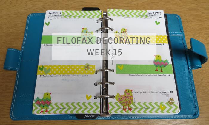 Filofax Decorating Week 15 #filofax #diary #planner #filofaxaddict