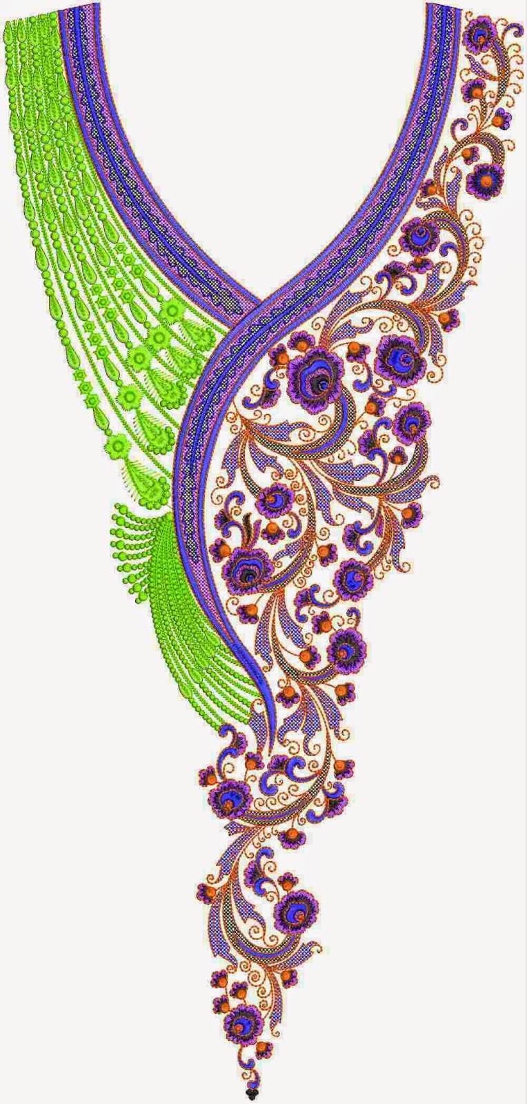Pakistani Dress Embroidery Lovely Neck Designs  Embdesigntube