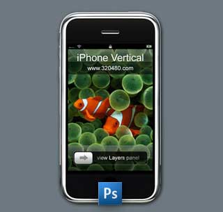 iphone en psd photoshop