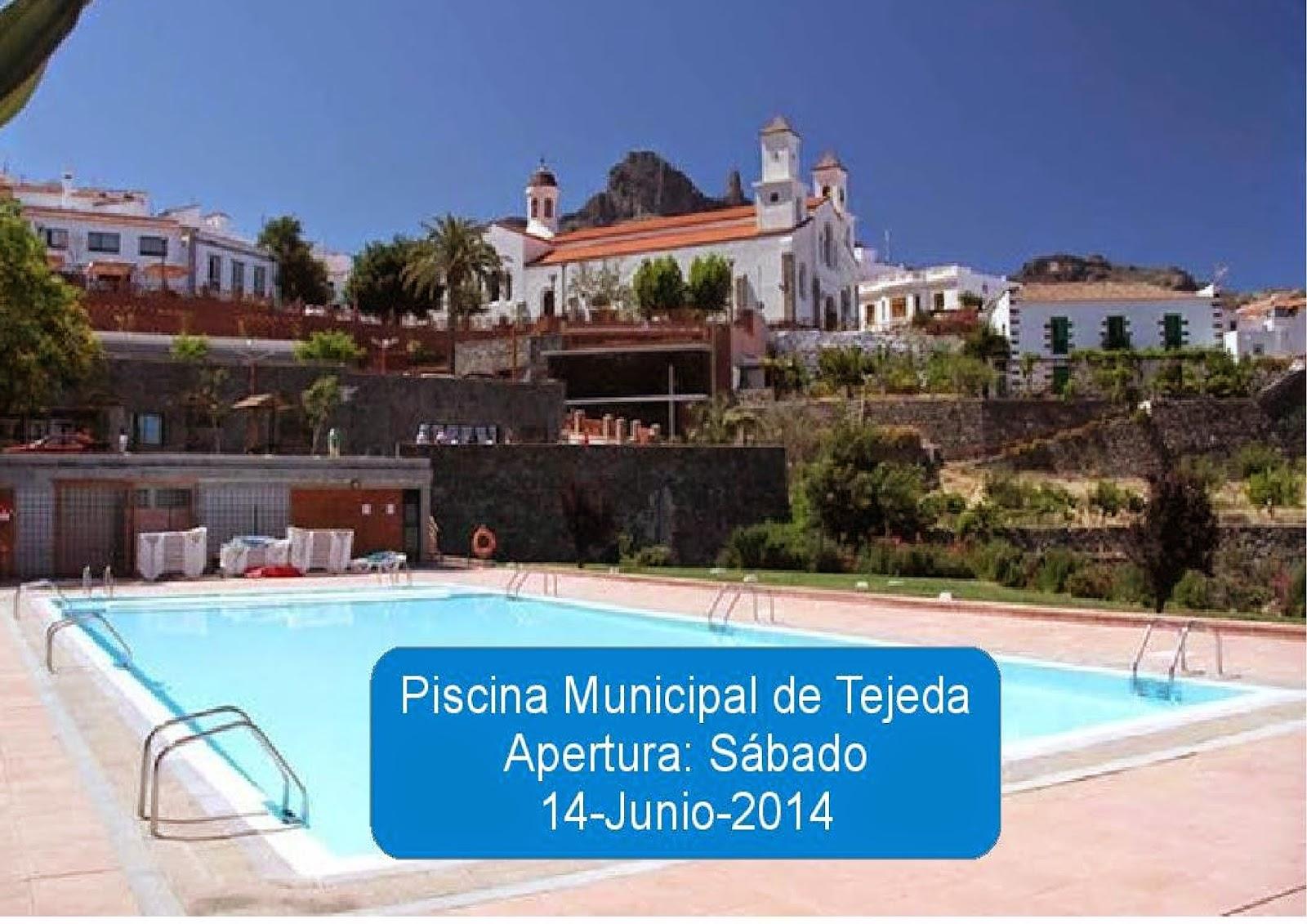 la piscina municipal de tejeda abrir a