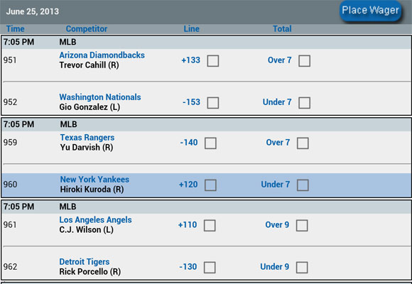 Eante Sports Betting Game