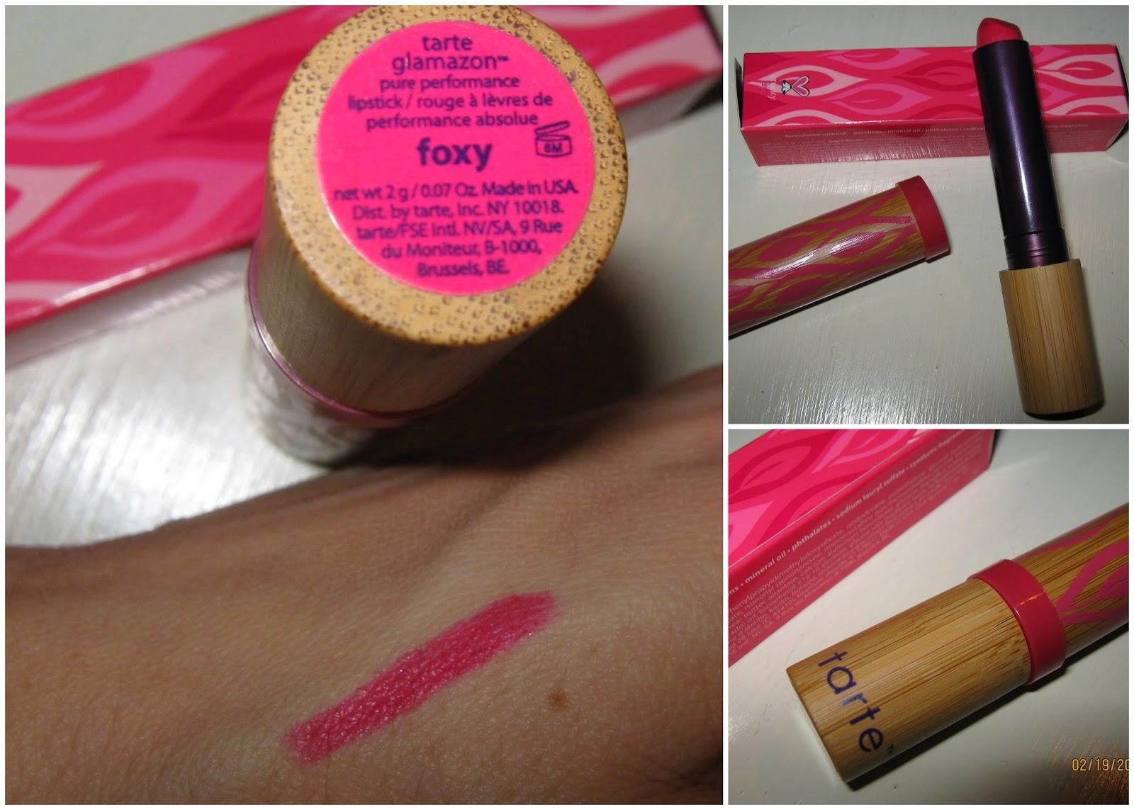 tarte glamazon lipstick foxy