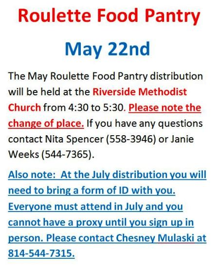 5-22 Roulette Food Pantry