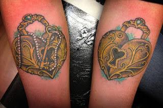 Tattoo of a locket by tattoo artist Jason Kunz for Triumph Tattoo