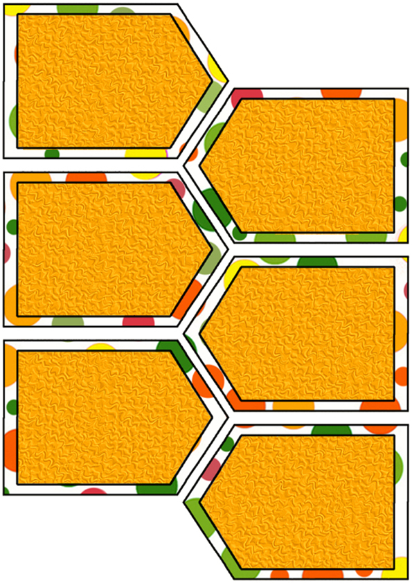 Artbyjean Paper Crafts Scrapbook Tags Green Orange And Yellow