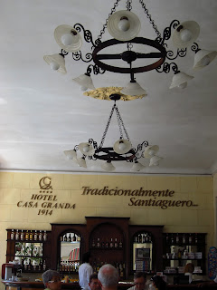 Santiago de Cuba Hotel Casa Granda bar on the veranda