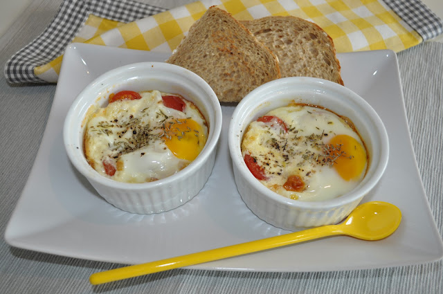 Bakte egg, eller Oeufs eu cocotte