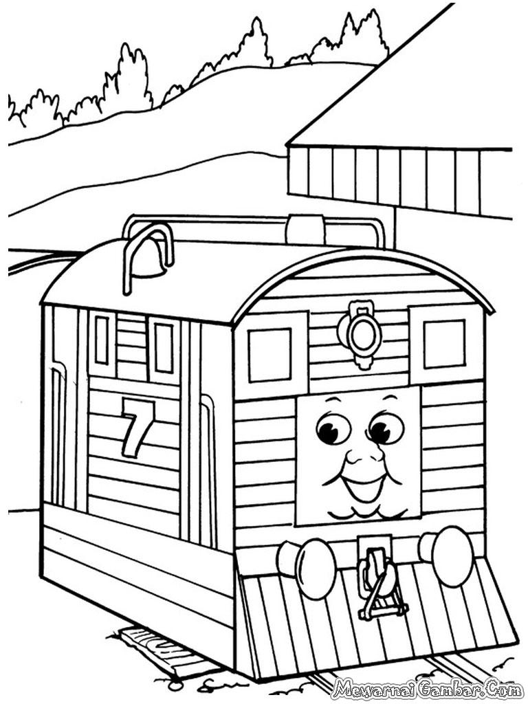 Lembar Mewarnai Gambar Kereta
