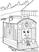 Download Lembar Mewarnai Gambar Kereta Untuk Anak-Anak