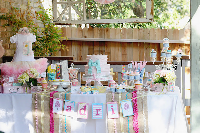 lovingly distressed Inspiration 1st Birthday Party Ideas