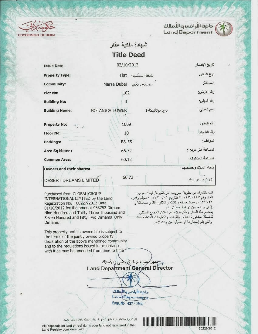 Building Arabia Real Estate Company Fwd Title