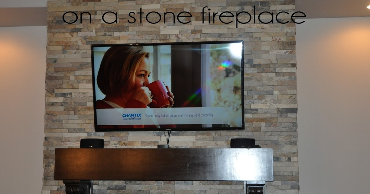 made: How to Mount a Flat Screen TV on a STONE fireplace {diy}