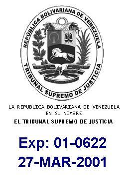 TSJ 01-0622 27-Marzo-2001