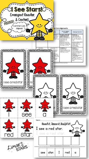 Limars Stars Emergent Reader & Centers FREEBIE! ;0)