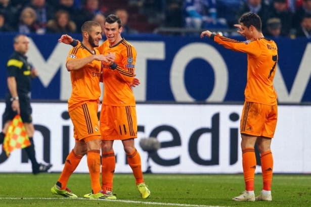 Hasil Schalke vs Real Madrid 1-6 Liga Champions Babak 16 Besar