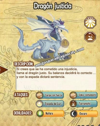 imagen del dragon justicia y sus caracteristicas