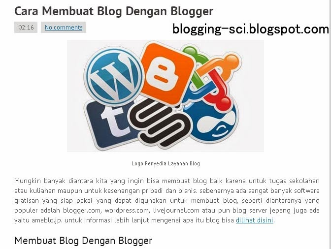 Konten Artikel Blog