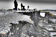 Zniszczenia po erupcji  wulkanu Katla
