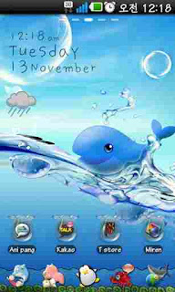 Download Ocean Theme GO Launcher EX v1.1 Android Application screenshot1