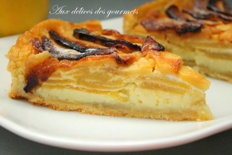 Aux d lices des gourmets tarte aux pommes fa on grand m re - Comment couper des pommes pour une tarte ...