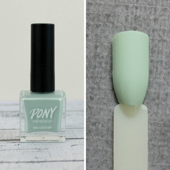Memebox X Pony Nails #07 Love Mint swatch swatches 포니 네일 #07 러브 민트