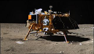 Parte del módulo chino en la Luna