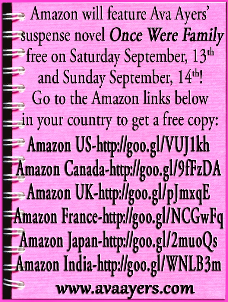 ONCE WERE FAMILY FREE BOOK SEPTEMBER 13 AND SEPTEMBER 14