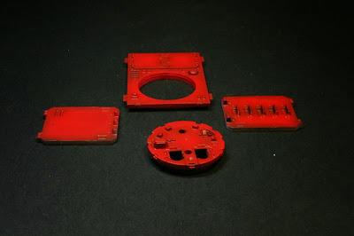 Puertas del razorback pintadas ya de rojo