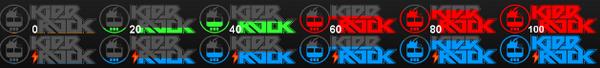Icon dan logo unik baterai Android Kidrock
