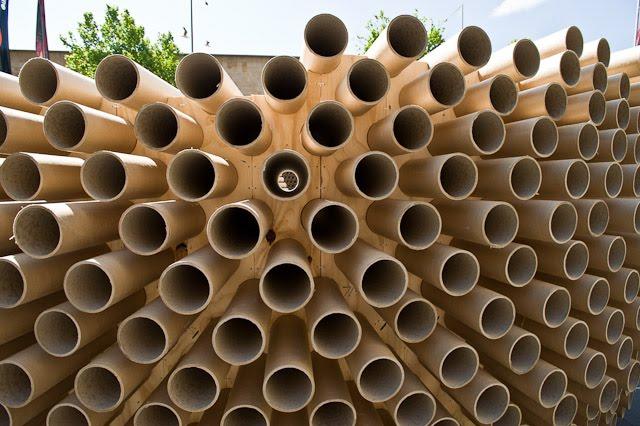 Popolare edilizia sostenibile_ 2000 tubi di cartone riciclato   BLOSSOM  AW54