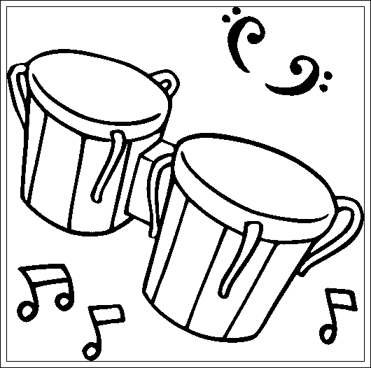 Free Printable Cymbals Coloring Page