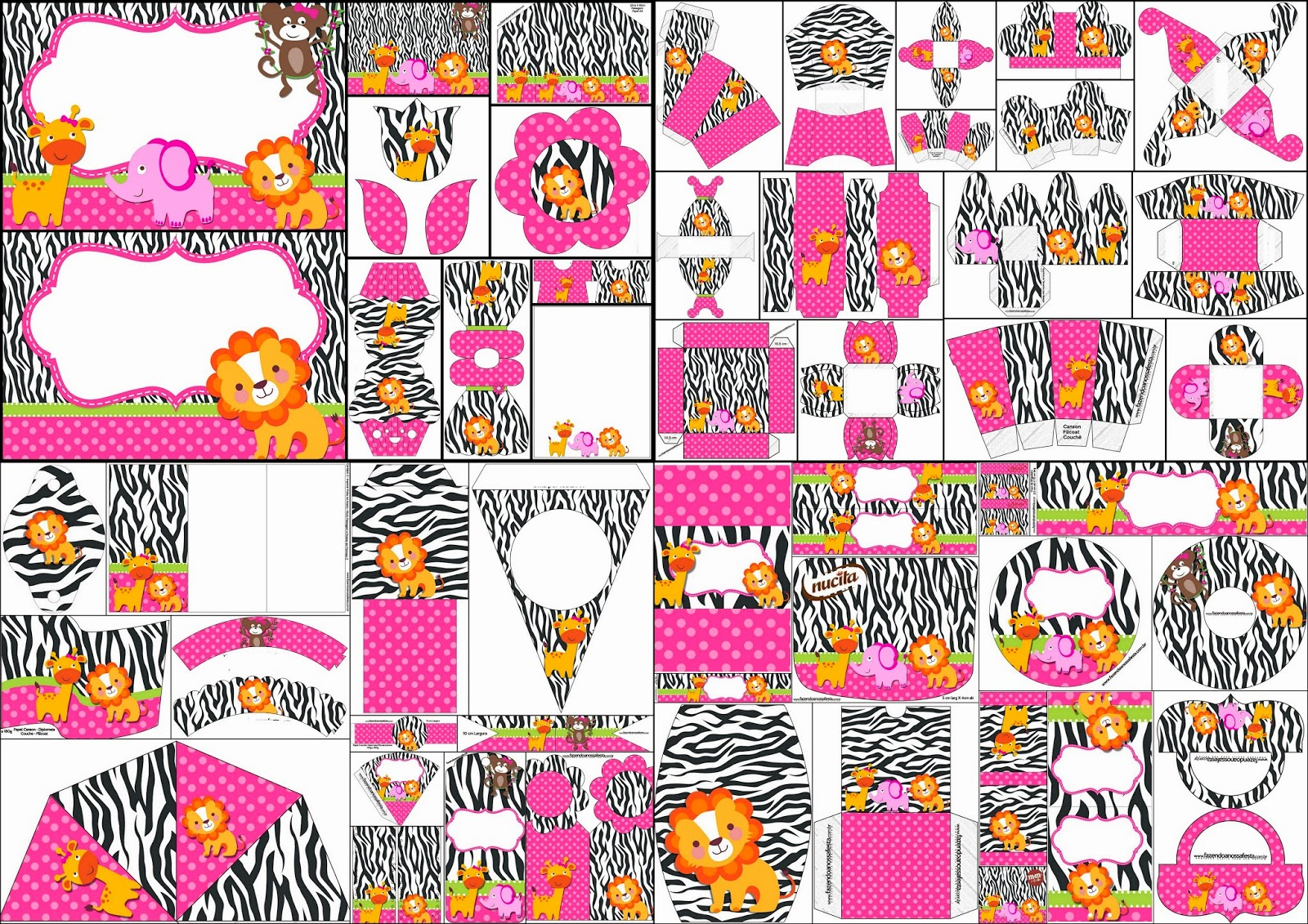 The Jungle for Girls: Free Printable Kit.