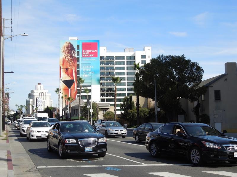 Euro Wax Center bikini billboard Sunset