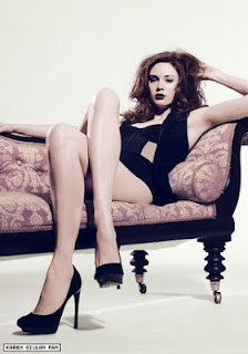 Karen Gillan glamour shoot Doctor Who publicity